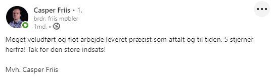Anbefaling Casper Friis