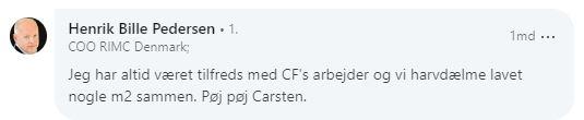 Anbefaling Henrik Bille Pedersen