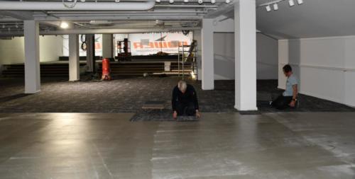 Montering af 900 kvm  tæppefliser i Power ved Vesterport